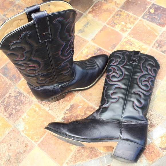 Texas Boot Company Other - Texas Brand Black Leather Cowboy Boots